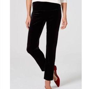 J. Jill Wearever Smooth-Fit Slim Ankle Velvet Pant